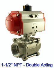 1-1/2 Inch Pneumatic Double Acting Air Return Air Actuated Stainless Ball Valve
