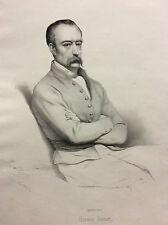 Horace Vernet d'après  Ary Scheffer lithographie l'Artiste 1850