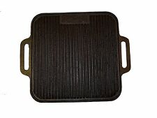 """Pre-Seasoned Bayou Classic 14"""" Square Cast Iron Reversible Grill/Griddle"""