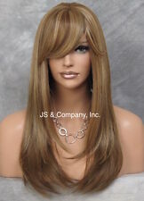 Long silky Straight Lace Front Wig Blonde mix bangs HEAT SAFE Wig HSO GF8642