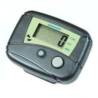 Black Clip-On Pedometer w/ Digital LCD Step Counter Calorie Distance Walk Run