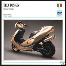 1992 Tria Design Runner 50cc/125cc Prototype Scooter Moped Motorcycle Photo Card