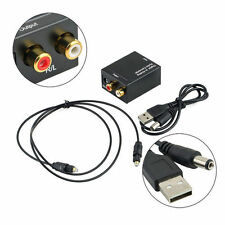 Optical Coaxial Toslink Digital to Analog Audio Converter Adapter RCA L/R 3.5mmR
