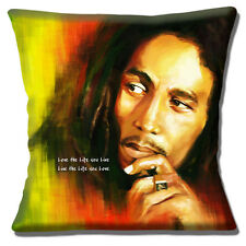 BOB MARLEY LOVE THE LIFE YOU LIVE LIVE THE LIFE YOU LOVE 16 Pillow Cushion Cover