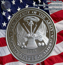 US Army 1 Troy oz Pure .999 Silver Round Limited Edition Proof