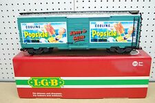 "LGB 48913 Cooling... Popsicle ""Always in Season"" Steel Box Car *G-Scale*"