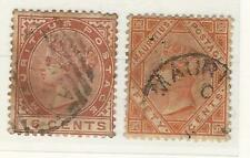 Mauritius: Used stamps, WMK CA, 1879 to 1885, good pieces. MAU12