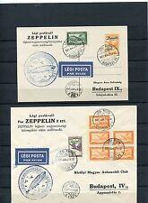 Ungarn Zeppelinbelege - Nr. 478-79 vom 27./28. 3.1931   ( 33705 )