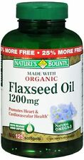 Nature's Bounty Flaxseed Oil 1200 mg Softgels 125 Soft