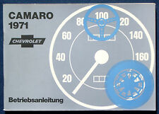 Owner's Manual * Betriebsanleitung 1971 Chevrolet Camaro  (D)