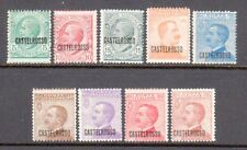 Castellorizo SC# 51-9 MH, (9) Stamp 1st Set Issued under Italian Dom. in 1922/