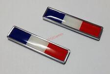 2pcs Alloy France Flag Badges Car Inner Outer emblem Sticker for Renault Peugeot