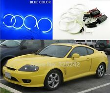 4x Excellent CCFL Angel Eyes kit For Hyundai Tiburon 2003-2006 Halo Ring BLUE