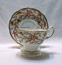 ROYAL ALBERT BONE CHINA TEA CUP & SAUCER SET HEATHER BELL, GIFT IDEA