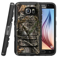 For Samsung Galaxy Phone Case Armor Holster Clip Hybrid Tree Camouflage Deer