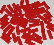 Lego Lot of 50 New Red Tiles 1 x 3 Flat Smooth Pieces
