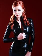 Womens Black Latex Rubber Mistress Clothing Jacket - Size Large (US 12, UK 14)
