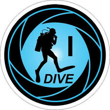 I Dive Scuba Tank  decal sticker! 200-105