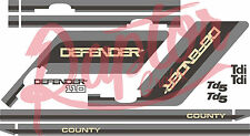 Land Rover Decals Stripes 110 county Defender Landrover Graphics stickers