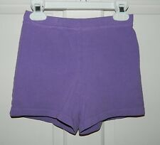 LANDS END girls Purple Cotton Playground SHORTS* 6 6X