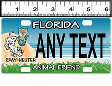 CUSTOM PERSONALIZED ALUMINUM BICYCLE STATE LICENSE PLATE-FLORIDA ANIMAL FRIEND