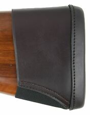 Leather Recoil Pad Butt Extension to fit Shotguns & Rifles Slip on & Elasticated