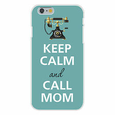 Keep Calm and Call Mom With Old Style Phone FITS iPhone 6 Snap On Case Cover New