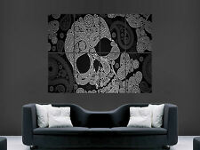 SKULL TRIPPY POSTER ABSTRACT WALL ART CLASSIC PRINT HUGE IMAGE HUGE GIANT LARGE