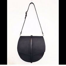 HANDCRAFTED LEATHER Half moon Saddlebag/X-body Bag. Celine Chloe Style