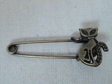 *NEW* vintage safety Cat pin brooch scarf shawl belt buckle