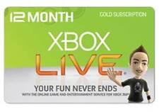 Xbox Live 12 meses Gold membresía Xbox 360/Xbox One Despacho Rápido/Reino Unido Vendedor