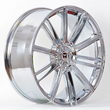 4 GWG Wheels 17 inch Chrome FLOW Rims fits 5x115 CADILLAC SEVILLE/STS 2000-2003
