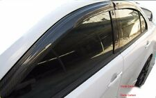 Carbon Fiber Visors Rain Guards 4pcs For Mitsubishi Lancer EX 08-09