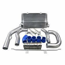 Double Core Front Mount Intercooler Kit For 2003+ Audi A3 8P Bolt On + Blue Hose