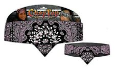 Chop Top: Pink Reversed Paisley w/ Rhinestones Doo Rag Casual Head Wrap New