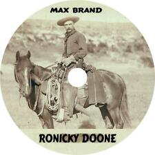 Ronicky Doone, Max Brand Western Audiobook Fiction on 5 Audio CDs Free Shipping