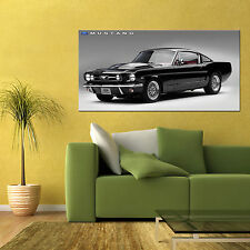 1965 FORD MUSTANG FASTBACK CLASSIC MUSCLE CAR LARGE AUTOMOTIVE POSTER 24x48in