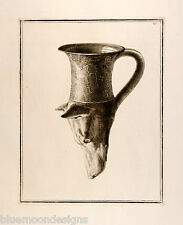 William Hamilton 1801 Apulian dog's head rhyton Antik Trinkgefäß Hund Greek Vase