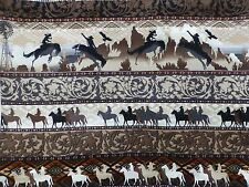 COWBOYS Fabric Fat Quarter Cotton Craft Quilting - Sunset Riders