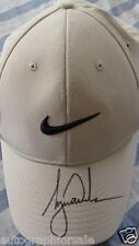 Tiger Woods autographed signed auto beige Nike golf cap or hat IN PERSON COA