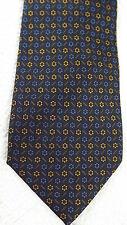 Dantendorfer Salzburg Silk Neck Tie Italy Brown Blue Gold Flower Foulard Print