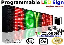 "DIGITAL LED SIGN 3 COLOR MOVING MESSAGE DISPLAY 38""X6"" PROGRAMMBALE OUTDOOR SIGN"