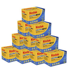 10 Rolls Kodak UltraMax Gold 400 135-24 Color Negative Print Film FRESH DATED