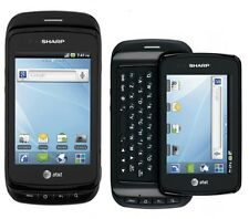 Sharp FX Plus - Black (Unlocked) Smartphone Wi-Fi Qwerty Android - FRB