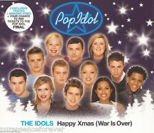 POP IDOL: THE IDOLS - Happy Xmas (War Is Over) (UK 4 Tk Enh CD Single)