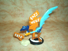 WB PVC Road Runner FREE EATS Warner Brothers Looney Tunes Figure Lot Toy Topper