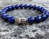 AAA+++ Lapis Lazuli Bracelet 8mm with budh head +++AAA