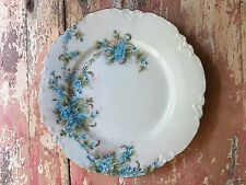 Vintage Havilland France Hand Painted Forget Me Not Plate Limoges