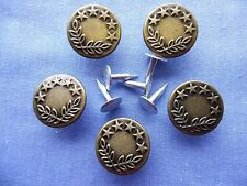 17mm Bronze Jeans Buttons (x 5)
