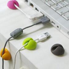 6 xLigero Clip Organizador Portátil Cable Holder Para Cable de Carga USB Hot !